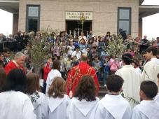 don Giuseppe Facchineri presiede la domenica delle Palme