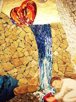 particolare mosaico cappellina