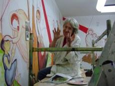 La pittrice Grazia Cega