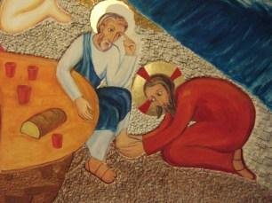 Gesù lava i piedi a Pietro