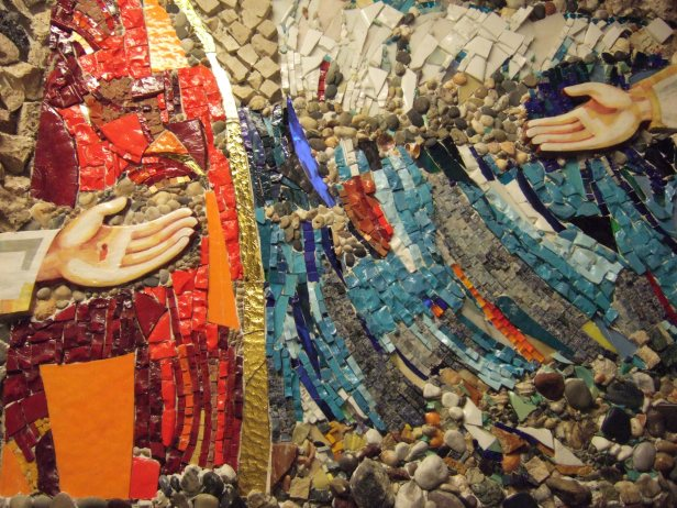 Mosaico dell'ingresso
