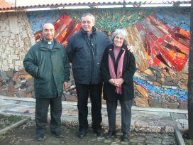 P. Marko Rupnik con Grazia Cega e Don Giuseppe Facchineri
