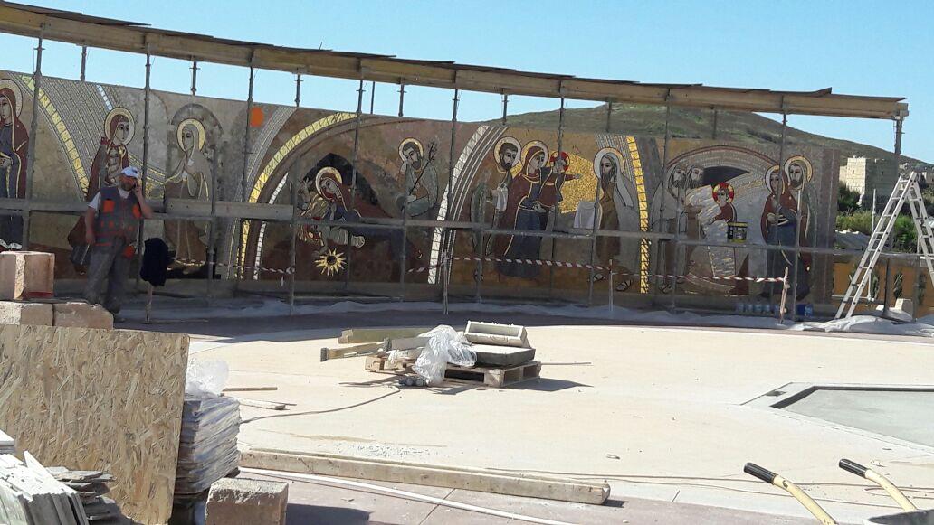 il cantiere dei mosaici del Rosario2